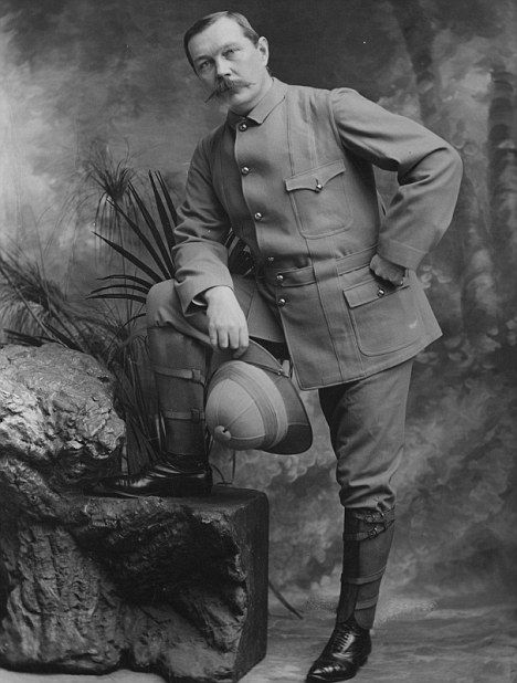 Highly patriotic Arthur Conan Doyle volunteered as a physician in the Boer War.