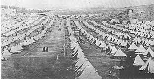 The British army herded nearly 120,000 civilians into concentration camps.