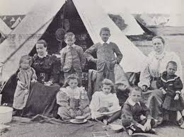Many Boer children died in British concentration camps.